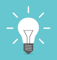 Bright glowing light bulb vector
