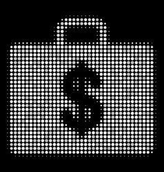 business case halftone icon vector image