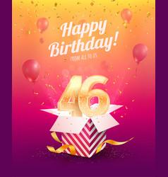 Celebrating 46th years birthday vector