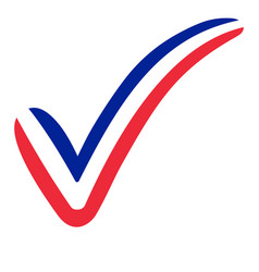Check mark france flag symbol elections voting vector