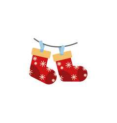 christmas sock color icon element of christmas vector image
