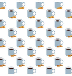 Coffee cups drinks pattern background vector