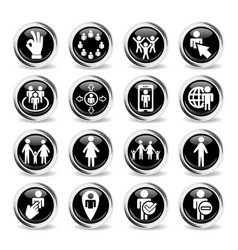 Community icon set vector