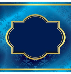 Dark blue background with gold frame vector