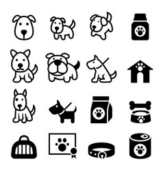 dog icon vector image