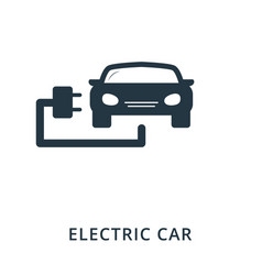 electric car icon flat style icon design ui vector image