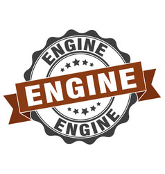 Engine stamp sign seal vector