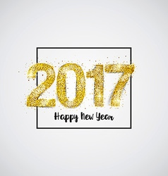 Gold 2017 on white background vector image