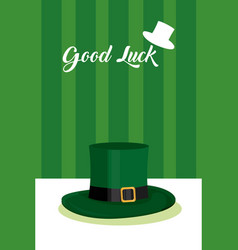 Good luck saint patricks day card vector