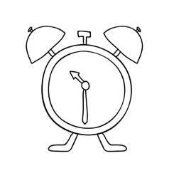 Hand drawing with antique alarm clock vector