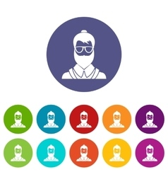 Hipsster man set icons vector image