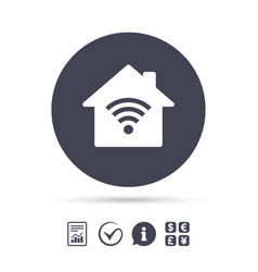 home wifi sign wi-fi symbol wireless network vector image