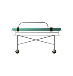Hospital bed from emergency ambulance section with vector