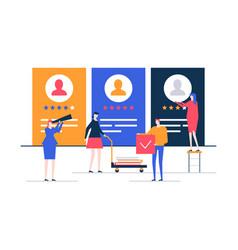 hr management - flat design style colorful vector image