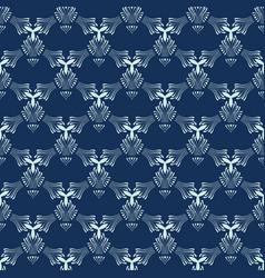 Indigo blue sashiko seamless pattern hand vector