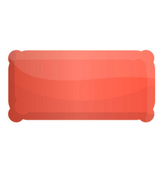 Inflated mattress icon cartoon style vector