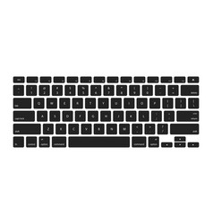 Keyboard keys stickers computer buttons vector