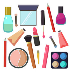 large set of different cosmetic accessories vector image