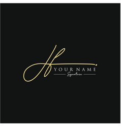 letter jf signature logo template vector image