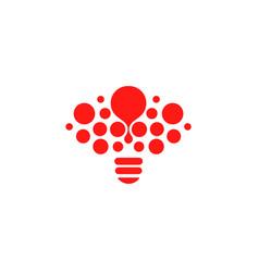 Lightbulb icon creative idea logo design concept vector