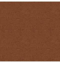 Line Brown Summer Camp Tile Pattern vector