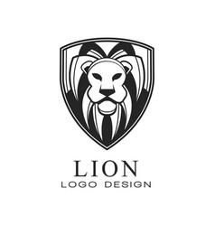 lion logo design classic vintage style element vector image