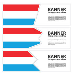 Luxembourg flag banners collection independence vector