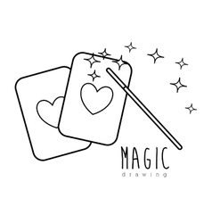 Magic graphic design vector image