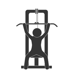 Man gym training vector