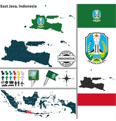 map east java vector image