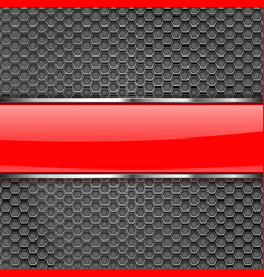 Metal perforated background with shiny glass vector
