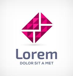 Mosaic e-mail envelope logo icon design template vector image