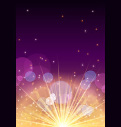 new year banner flyer concept with firework flare vector image