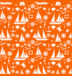 orange summer seamless pattern vector image