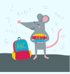 rat back to school vector image