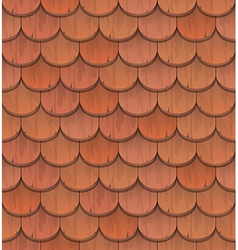 Red clay roof tiles vector