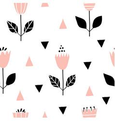 scandinavian geometric seamless pattern with vector image