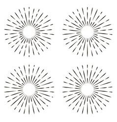 set icon sign sun rays sun shine rays vector image