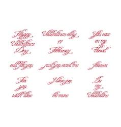 Set of handwritten calligraphic inscriptions vector image