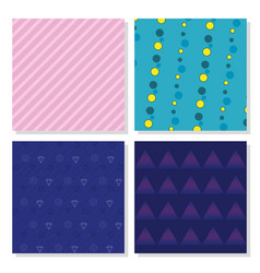 set of memphis backgrounds vector image