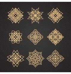 Set of thai art design vector