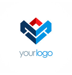 shape business logo vector image