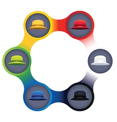 Six Thinking Hats Business Leadership Concept vector image vector image