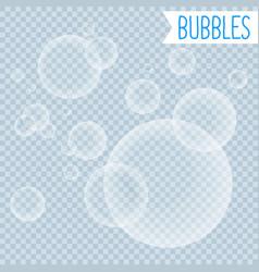 soap bubbles white shampoo clipart on transparent vector image