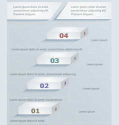 strategic paper template infographics vector image