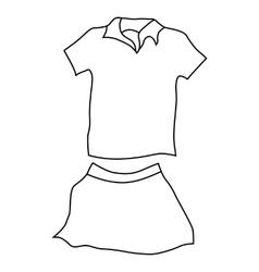 Tennis woman uniform icon outline style vector
