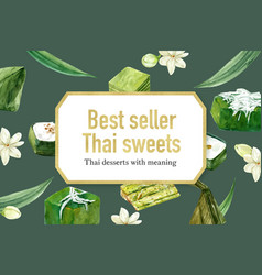 Thai sweet frame design with various vector