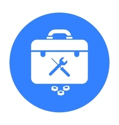Toolbox icon in black style isolated on white vector image