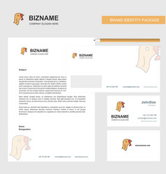 Turkey business letterhead envelope and visiting vector