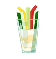 Vegetable drink vector